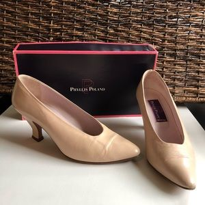 Vintage Phyllis Poland Conch Leather Low Heels